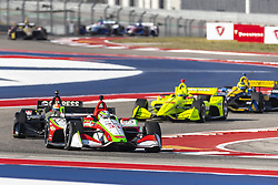 March 22, 2019 - Austin, Texas, U.S. - PATRICIO O'WARD (R) (31) of Mexico goes through the turns during practice for the INDYCAR Classic at Circuit Of The Americas in Austin, Texas. (Credit Image: © Walter G Arce Sr Asp Inc/ASP)