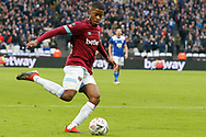 West Ham United striker Xande Silva (32) crosses the ball towards goal during the The FA Cup 3rd round match between West Ham United and Birmingham City at the London Stadium, London, England on 5 January 2019.