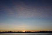 A beautiful sky at dusk in this image of California at Secret Cove, Lake Tahoe.