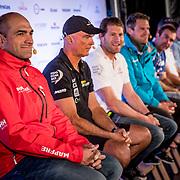 © Maria Muina I MAPFRE. IGothenburg In Port Race. Gothenburg Skippers Press Conference. Rueda de prensa de patrones en Gotemburgo.