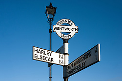 Street sign in Wentworth Village near Rotherham...29 January 2010.Images © Paul David Drabble