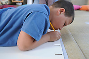 Israel, Hiriya, the recycling museum, child learning about the recycling advantages