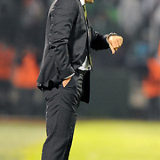 Bursaspor's coach Ertugrul SAGLAM during their Turkish soccer super league match Bursaspor between Kayserispor at Ataturk Stadium in Bursa Turkey on Saturday, 01 May 2010. Photo by TURKPIX