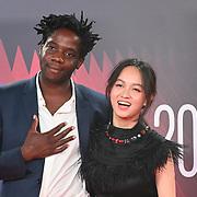 Makita Samba, Lucie Zhang arrives at the Paris, 13th District | BFI London Film Festival 2021 14 October 2021 Southbank Centre, Royal Festival Hall, London, UK.