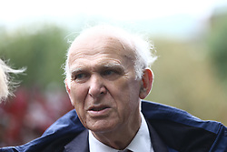 © Licensed to London News Pictures. 01/10/2017. Manchester, UK. Lib Dem leader Vince Cable at An anti-brexit protest is taking place in Manchester today on the first day of the Conservative Party Conference that is being held at the Midland Hotel & Manchester Central. Photo credit: Andrew McCaren/LNP