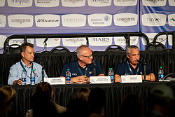 Timmons Thomas, President Endurance, Veterinary commission, Akerström Göran, Veterinary Director, De Vos Ingmar, FEI President <br /> World Equestrian Games - Tryon 2018<br /> © Hippo Foto - Dirk Caremans<br /> 14/09/18