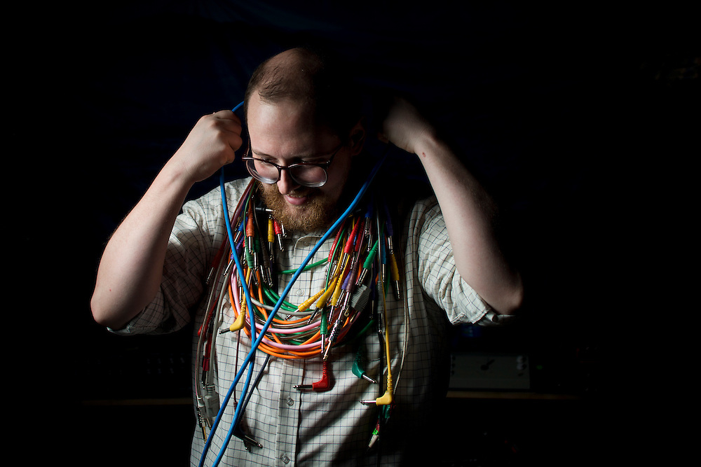 """photo by Matt Roth..Assignment ID: 30130553A.Electronic composer Dan Deacon is photographed in his Baltimore, MD studio Friday, August 24, 2012. He recently released his new album """"America."""""""