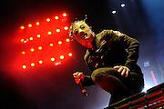 Slipknot performing at the Rockstar Mayhem Festival in St. Louis. July 23, 2008. © Todd Owyoung/Retna Ltd.
