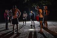 Mamakating, New York - Scenes from the start of the Shawangunk Ridge Trail Run/Hike  50-mile race on Sept. 17, 2016.