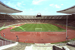 BERLIN, GERMANY - Sunday, August 7, 1994: A general view of the Olympiastadion before a preseason friendly between Hertha BSC Berlin and Liverpool FC. (Pic by David Rawcliffe/Propaganda)
