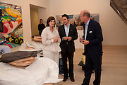CHERIE BLAIR; RODMAN PRIMACK; DAVID CICLITARA;, Korean Eye Dinner  hosted by The Dowager Viscountess Rothermere and Simon De Pury.Sponsored by CJ, Korean Food Globalization Team, Hino Consulting and Visit Korea Committee. Phillips de Pury Space, Saatchi Gallery.  Sloane Sq. London. 2 July 2009.