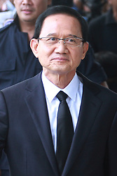 August 2, 2017 - Bangkok, Thailand - Former Thai Prime Minister Somchai Wongsawat greets supporters as he arrives for a hearing over being charged in a case concerning a crackdown on protesters in 2008, at the Supreme Court's Criminal Division for Persons Holding Political Positions in Bangkok, Thailand, 02 August 2017. (Credit Image: © Vichan Poti/Pacific Press via ZUMA Wire)