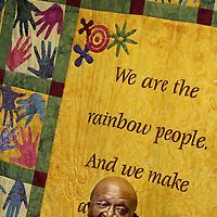Nobel Laureeate Archbishop Desmond Tutu in his Cape Town, South Africa office.<br /> Photo by Shmuel Thaler <br /> shmuel_thaler@yahoo.com www.shmuelthaler.com