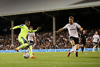 LONDON, ENGLAND - MAY 14:LONDON, ENGLAND - MAY 14:Kasy Palmer, of Derby County tries to get past Fulham's Kevin McDonald