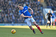 Portsmouth Defender, Matt Clarke (5) during the EFL Sky Bet League 1 match between Portsmouth and Blackpool at Fratton Park, Portsmouth, England on 24 February 2018. Picture by Adam Rivers.