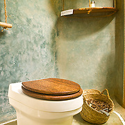 Composting toilet in a bungalow, Chumbe Island Coral Park, Tanzania, Africa