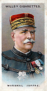 Joseph Jacques Cesaire Joffre (1852-1931) French soldier. Commander-in-Chief French forces 1915-16. Marshal of France. Chromolithograph card 1917