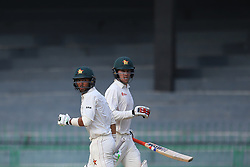 July 16, 2017 - Colombo, Sri Lanka - Zimbabwe cricketers Sikandar Raza (2R) and Malcolm Waller(R) run between the wickets  during the third day's play of the only test cricket match between Sri Lanka and Zimbabwe  at R Premadasa International cricket stadium in Colombo, Sri Lanka, Sunday, July 16, 2017. (Credit Image: © Tharaka Basnayaka/NurPhoto via ZUMA Press)
