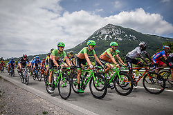 Riders of Hrinkow Advarics Cycleang team during Stage 1 of 24th Tour of Slovenia 2017 / Tour de Slovenie from Koper to Kocevje (159,4 km) cycling race on June 15, 2017 in Slovenia. Photo by Vid Ponikvar / Sportida