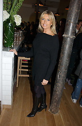 Actress TINA HOBLEY at the opening party for Tom's Kitchen - the restaurant of Tom Aikens at 27 Cale Street, London SW3 on 1st November 2006.<br /><br />NON EXCLUSIVE - WORLD RIGHTS