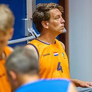 NLD/Rotterdam/20190706 - BN'ers spelen rolstoelbasketbal, team oranje met Jan Willem Roodbeen