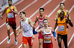 Pavel Maslák of Czech Republic reacts during competing in the 400m Men Final on day two of the 2017 European Athletics Indoor Championships at the Kombank Arena on March 4, 2017 in Belgrade, Serbia. Photo by Vid Ponikvar / Sportida