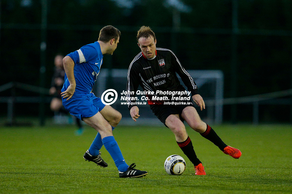 14/04/2017, Division 1 Soccer at MDL, Navan<br /> OMP United vs Enfield Celtic<br /> Michael Brennan (OMP United) & Dean Brennan (Enfield Celtic)<br /> Photo: David Mullen / www.quirke.ie ©John Quirke Photography, Unit 17, Blackcastle Shopping Cte. Navan. Co. Meath. 046-9079044 / 087-2579454.<br /> ISO: 5000; Shutter: 1/1000; Aperture: 4<br /> File Size: 8.6MB<br /> Print Size: 72.0 x 48.0 inches