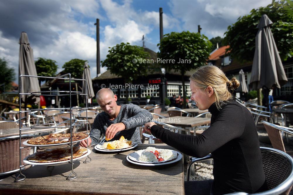 Nederland, Amstelveen , 21 augustus 2014.<br /> Pannenkoekenhuis Meerzicht aan de Bosbaan in Amstelveen.<br /> Foto:Jean-Pierre Jans