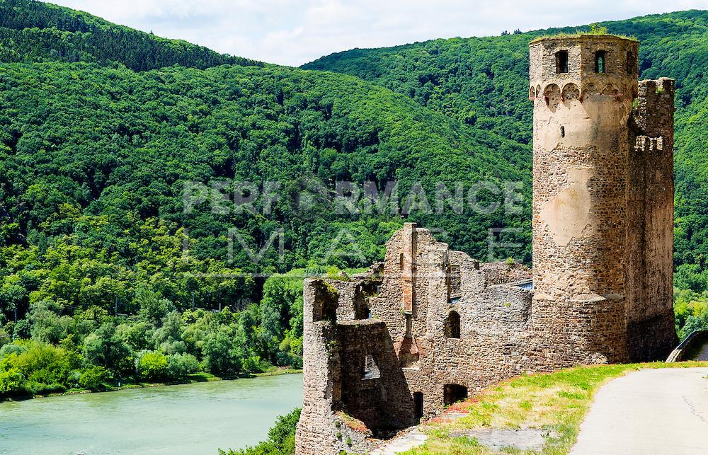Ruined Castle Ehrenfels Rudesheim Hesse Germany Europe