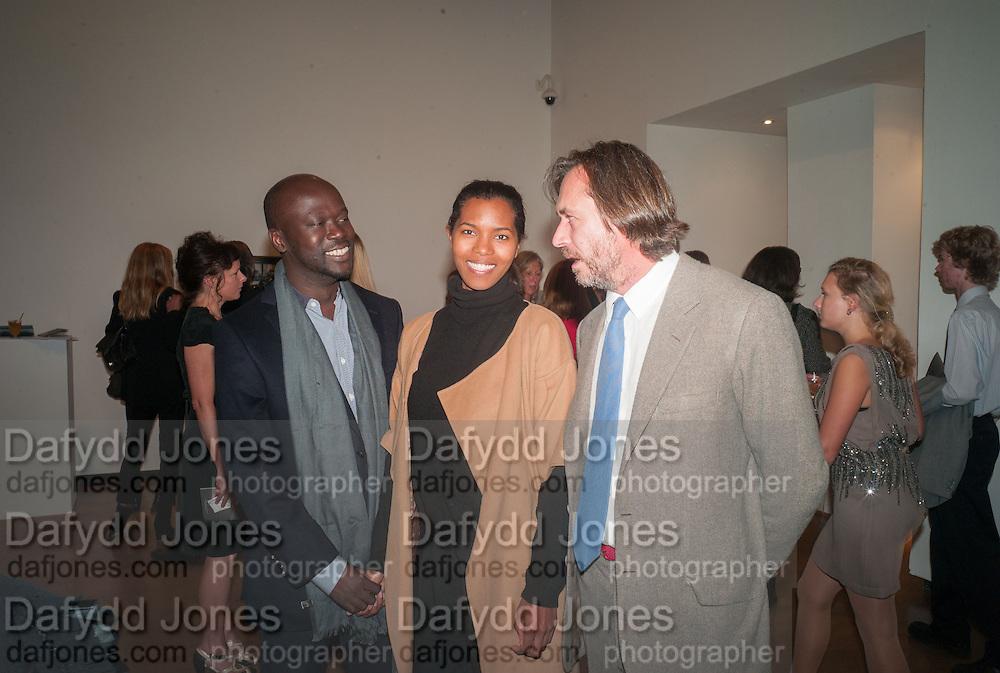 DAVID ADJAYE; ASHLEY SHAW-SCOTT; MARC NEWSON, Gala Opening of RA Now. Royal Academy of Arts,  8 October 2012.