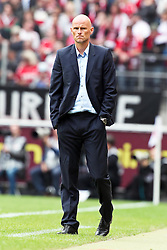 23.07.2011,  Rhein Energie Stadion, Koeln, GER, FSP, 1. FC Koeln vs Arsenal London, im Bild: Stale Solbakken (Trainer Koeln) ratlos...// during the friendly match, 1. FC Koeln vs Arsenal London on 2011/07/23, Rhein-Energie Stadion, Köln, Germany. EXPA Pictures © 2011, PhotoCredit: EXPA/ nph/  Mueller *** Local Caption ***       ****** out of GER / CRO  / BEL ******