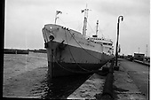 """1963 - The ship """"Irish Hawthorn"""" paying her first visit to Dublin"""