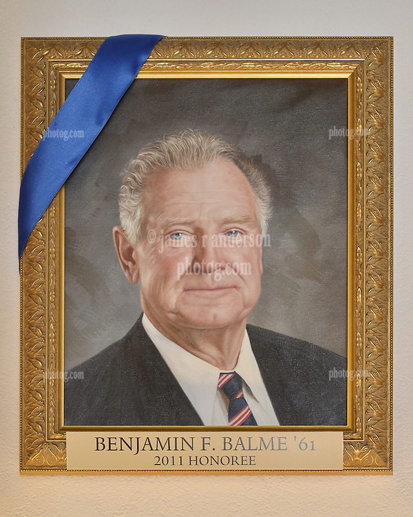 Blue Leadership Ball 2011, Yale University Athletics. Award Honoree Benjamin F. Balme '61 Portrait hanging in the Kiphuth Trophy Room, Payne Whitney Gymnasium.