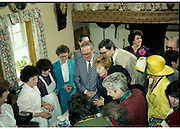 Raisa Gorbachev at Bunratty Folk Park.  (R99)..1989..02.04.1989..04.02.1989..2nd April 1989..While her husband, Russian President Mikhail Gorbachev,was working on state matters ,Mrs Gorbachev was taken on a tour of Bunratty Folk Park in Co Clare. The Gorbachevs were in Ireland as part of a tour of European Capitals...Mrs gorbachev is pictured making time to sample the tea on offer at the Folk Park in Bunratty Co Clare.