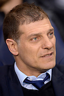 West Ham United manager Slaven Bilic looking on from the dugout before k/o. Barclays Premier league match, Tottenham Hotspur v West Ham Utd at White Hart Lane in London on Sunday 22nd November 2015.<br /> pic by John Patrick Fletcher, Andrew Orchard sports photography.