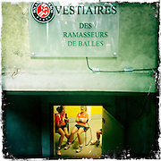 Roland Garros. Paris, France. May 30th 2012.Ball boy locker room.Le vestiaire des ramasseurs de balles