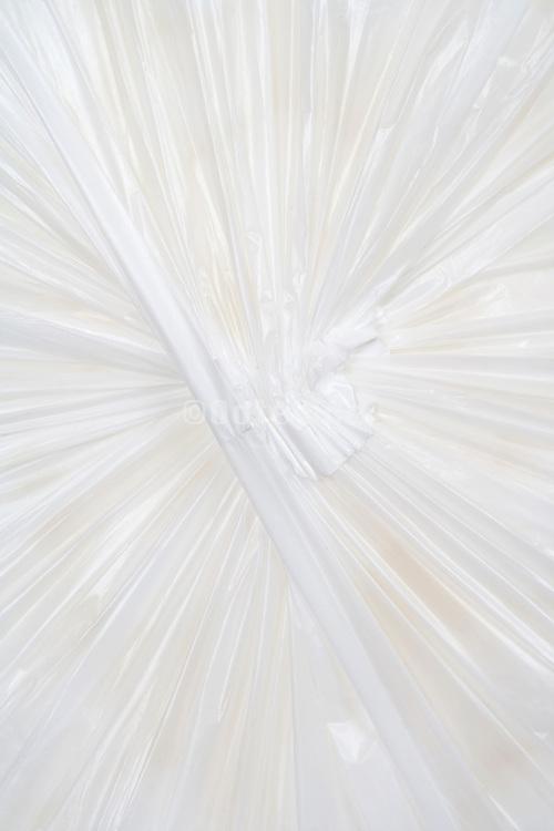 underside of a white plastic bag