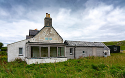 Old closed and abandoned hotel in Durness, Sutherland, Highland Region, Scotland, UK