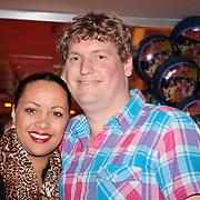 NLD/Den Haag/20110731 - Premiere musical Alice in Wonderland met K3, Sonja Silva en partner Declan Vermaat