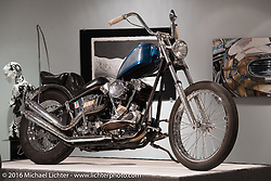 Roadside Marty's 1946 Knuckle in Michael Lichter's Skin & Bones tattoo inspired Motorcycles as Art Exhibition at the Buffalo Chip Gallery during the annual Sturgis Black Hills Motorcycle Rally.  SD, USA.  August 10, 2016.  Photography ©2016 Michael Lichter.