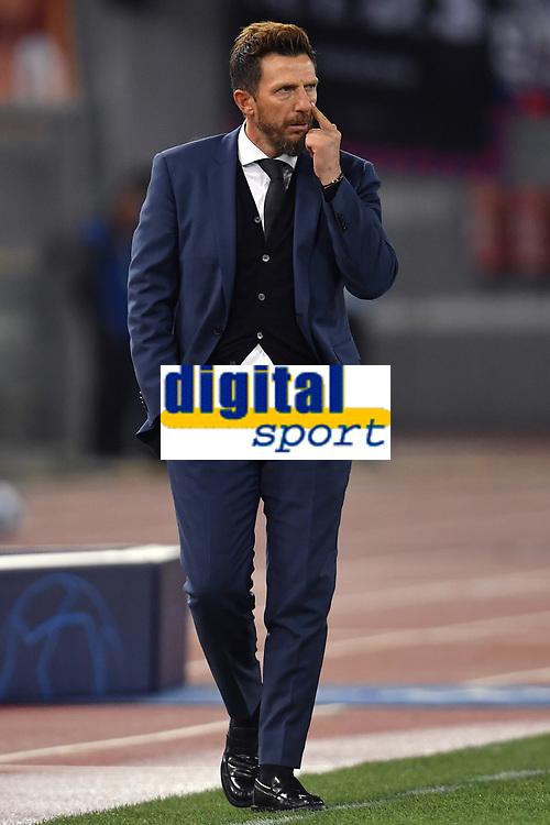Eusebio Di Francesco of AS Roma gestures during the Uefa Champions League 2018/2019 Group G football match between AS Roma and CSKA Moscow at Olimpico stadium Allianz Stadium, Rome, October, 23, 2018 <br />  Foto Andrea Staccioli / Insidefoto