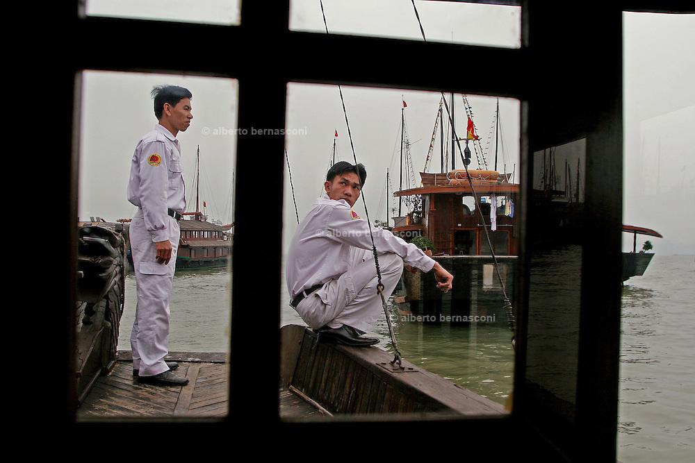 Vietnam, Ha Long Bay. militars