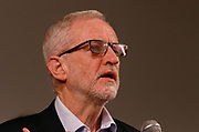 London, United Kingdom - 11 December 2019<br /> Labour Party leader Jeremy Corbyn speaking at their final campaign rally before the General Election 2019 at Hoxton Docks, London, England, UK.<br /> (photo by: EQUINOXFEATURES.COM)<br /> Picture Data:<br /> Photographer: Equinox Features<br /> Copyright: ©2019 Equinox Licensing Ltd. +443700 780000<br /> Contact: Equinox Features<br /> Date Taken: 20191211<br /> Time Taken: 21334200<br /> www.newspics.com