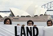 Aboriginal land rights protest as protestors attend Bicentenary celebrations, Sydney, Australia