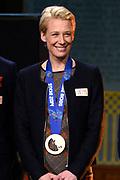 Officiele Huldiging van de Olympische medaillewinnaars Sochi 2014 / Official Ceremony of the Sochi 2014 Olympic medalists.<br /> <br /> Op de foto: Carien Kleibeuker