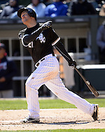 CHICAGO - APRIL 09:  Todd Frazier #21 of the Chicago White Sox bats against the Cleveland Indians on April 9, 2016 at U.S. Cellular Field in Chicago, Illinois.  The White Sox defeated the Indians 7-3.  (Photo by Ron Vesely)  Subject: Todd Frazier