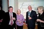 ALAN BORG; MAVIS WALKER; PATRICK WALKER; DAME GILLIAN WAGNER,  Founding Fellows 2010 Award Ceremony. Foundling Museum on Monday  8 March