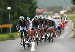 Team LPR Brakes - Ballan IRL leading the peloton in last 4th stage of the 15th Tour de Slovenie from Celje to Novo mesto (157 km), on June 14,2008, Slovenia. (Photo by Vid Ponikvar / Sportal Images)/ Sportida)