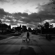 """Sunrise on the first day of LA's """"Stay At Home"""" order was eerily quiet. No cars, no people. Despite orders to shelter in place, though, not everyone could stay home. Judy works for a major telecom company, considered an """"essential business,"""" so she had to report to work."""