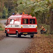 Grote brand Quest International Naarden, meetploeg brandweer Meentweg Naarden